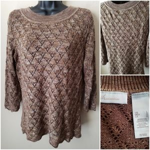 Super Cute Knitted 3/4 Sleeve Top